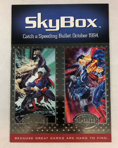 SUPERMAN PLATINUM SERIES Jumbo SKYBOX Promo Card Sheet 1994 Speeding Bullet (B)