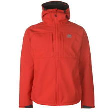 Karrimor Alpiniste Soft Shell Jacket Coat Hooded Full Zip Red Jacket Mens Large