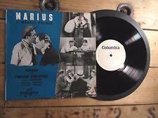 """RAIMU PIERRE FRESNAY MARCEL PAGNOL MARIUS THEATRE 33T LP 10"""" VINYLE EX COVER EX"""