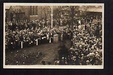 Colwyn Bay - Armistice Day - real photographic postcard