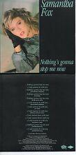 CD Single Samantha Fox - Stock Aitken Waterman - PWL Nothing's Gonna Stop Me Now