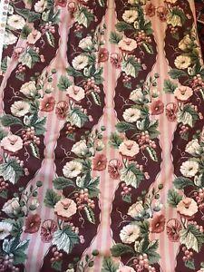"Vintage Larry Laslo for Bloomcraft Curtains, 83"" drop"