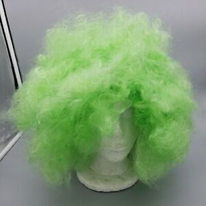 Green Afro Curly Wig Party 70s 80s Disco Circus Dress Up Costume Clown Wigs NWT