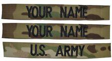 3 Piece Multicam Scorpion Name Tape Set SEW ON - U.S. Army Military