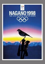 NAGANO JAPAN 1998 Winter Olympics Official Olympic Museum POSTER Reprint