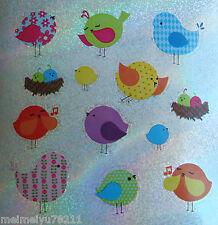 2xSheet Sandylion Glitter Stickers Animal Patterned Singing Birds BUY2GET1FREE