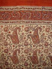 "Rajasthan Paisely Block Print Curtain Drape Panel Cotton 46"" x 88"" Salmon"