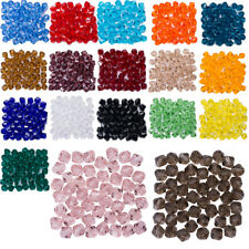 900pcs 18 Colors Crystal Glass Rondelle Faceted Loose Spacer Beads DIY 6mm