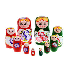 5pcs/Set Matryoshka Russian Nesting Dolls Toy Wooden Doll Babushka Hand Painted