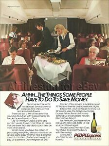 1986 PEOPLE EXPRESS Premium Class BOEING 747 AD airlines PEOPLExpress airways