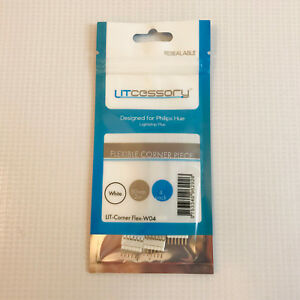 Litcessory 2in, 4-Pack Flexible Corner Piece for Philips Hue Lightstrip Plus