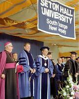 President Ronald Reagan at Seton Hall University graduation New 8x10 Photo