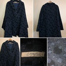 🌈Cannisse Blue Wool Mix A Line Coat Spot Plus Size Lagenlook Arty Womens Quir