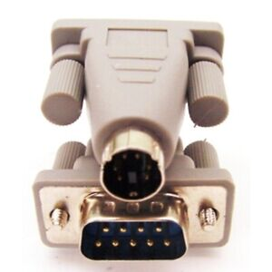 PC Mouse Adapter / converter, plug a DB9 serial mouse into the PS/2 port on a PC