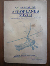 *AEROPLANES (CIVIL) BY JOHN PLAYER & SONS* ALBUM - COLLECTING CARD BOOK & CARDS