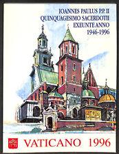Vaticano - Libro dei Francobolli emissione completa anno 1996