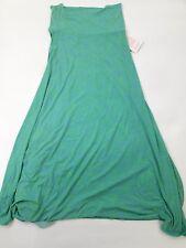 "LuLaRoe Maxi Size Medium Dress Blue And Green Pattern New W Tags 44"" Long"