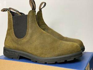 Blundstone Originals 1615 Dark Olive Suede Leather 11 Chelsea Boots 500 550 585