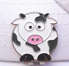 Cow Golf Ball Marker - W/Bonus Magnetic Hat Clip - Very Cute
