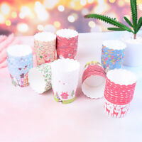 50X Mini Cupcake Liners Paper Cake Baking Cup Muffin Cases Xmas Weeding Gifts.FR