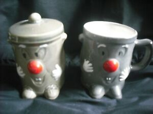 CERAMIC COLLECTABLE FUNNY FACE MUG & MATCHING MONEY BOX