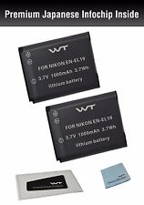 WT-ENEL19K2 GENUINE WT Battery(2pack) for Nikon Coolpix S3100,S3200,S3300,S3400