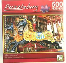 Puzzlebug 500 piece jigsaw puzzle NIB, sealed - Carousel Horses