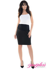 Purpless Maternity Pregnancy Formal Pencil Skirt 1504 18 Black
