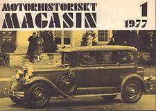 Motorhistoriskt Magasin Swedish Car Magazine 1 1977 Standerd 6 040317nonDBE