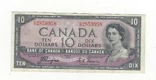 **1954 Devil's Face**Canada $10 Note,Coyne/Towers BC-32a, Ser# CD 2859958