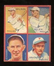 1935 Goudey - Allen, Brickell, Jonnard & Wilson - Philadelphia Phillies