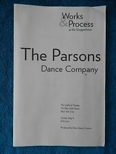 Works & Process - Juilliard Playbill w/Ticket - May 9th, 1999 - Parsons Dance Co
