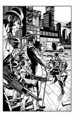 ORIGINAL COMIC ART SECRET SIX RIDDLER SPLASH PAGE! DERENICK PEN & INKS DC COMICS