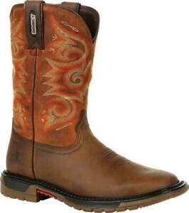 Women's  Rocky Original Ride FLX Western Boot RKW0320 Brown/Chestnut Full Grain