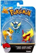 Pokemon Tomy: Vaporeon, Jolteon & Flareon Mini Figura 3-Pack-Sellado Gratis P&P