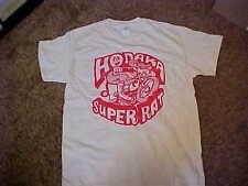 Vintage Motocross Hodaka Super Rat T-Shirt in Silk Screen  Cream Size 2XL. AHRMA