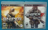 Sniper 1 + 2 Ghost Warrior - Sony PlayStation 3 PS3 Game Lot Working Tested