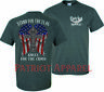 Stand for the Flag Kneel for Cross Shirt USA Military America DONT TREAD ON ME
