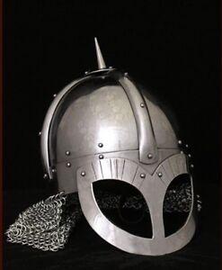 Mittelalterhelm Wikinger Brillenhelm Gjermundbu Stil 2mm Stahl