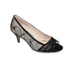 Lunar Faith Nude And Black Lace Peep Toe Shoe