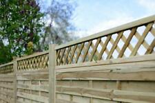 Fencing Panels - 1.8m x 1.2m St Esprit Trellis Top - Wood Fence Panels brand new