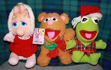 Mcdonalds Jim Henson's Muppet Babies 1988 Kermit Fozzie Bear Miss Piggy set of 3