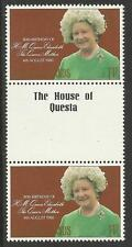 FALKLAND IS 1980 80th Birthday QUEEN ELIZABETH QUEEN MOTHER 1v Gutter Pair MNH