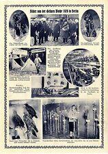 Bilder von der Grünen Woche Funkhalle in Berlin OB Dr. Boess Memorabilie von1926
