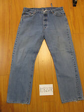 Levi 501 button fly grunge broken belt loop jean tag 40x32 meas 38x31.5 10822R