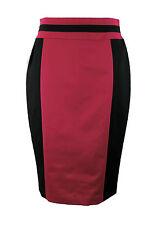 Apriori Rock 38 schwarz purpur Bleistiftrock Polyester elegant neu skirt jupe