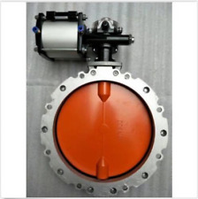 Pneumatic powder Cement double flanged butterfly valve DN200 Sx