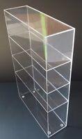 "Acrylic Cabinet Counter Top Display Showcase Box 8""x 8""x 16"" Display Box Acrylic"