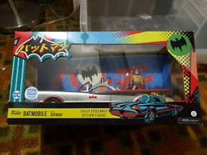 Funko BATMOBILE with Batman - 1966 style car and figure - variant color