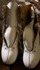 "Slm Lake Placid Vintage Ladies Size 9 Figure Skates 10 1/3"" blade Canada Nos"